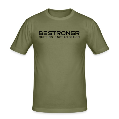 Logo and tagline front, Velvet - Men's Slim Fit T-Shirt