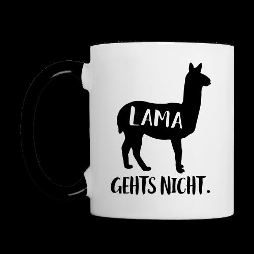 Lama Gehts Nicht Langsam Spruch Tasse - Tasse zweifarbig
