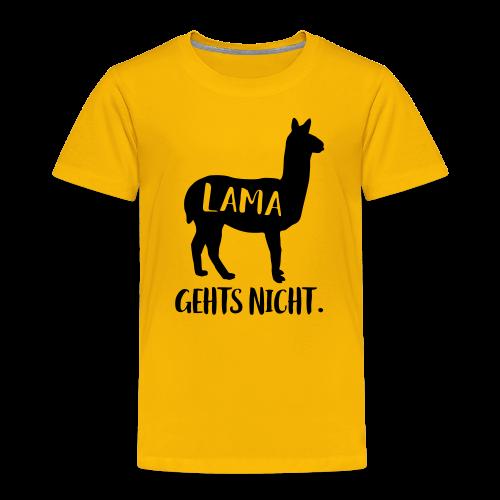 Lama Gehts Nicht Langsam Spruch Kinder T-Shirt - Kinder Premium T-Shirt