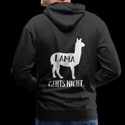 Lama Gehts Nicht Langsam Spruch Hoodie - Männer Premium Hoodie