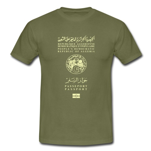 Passeport Algérien - T-shirt Homme