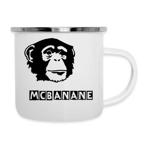Monkey-Cup - Emaille-Tasse