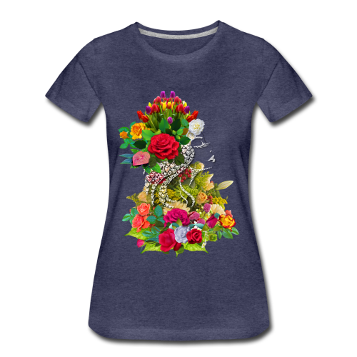 Lady flower by T-shirt chic et choc - T-shirt Premium Femme