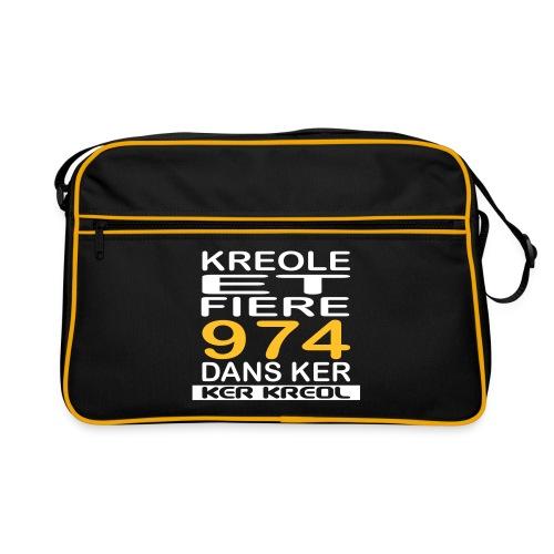 Sac Retro Kreole et Fiere 974 ker kreol - La réunion  - Sac Retro