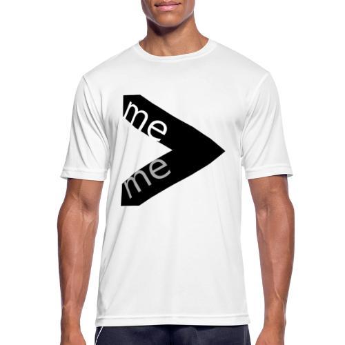 Motivationsshirt me greater me - Männer T-Shirt atmungsaktiv