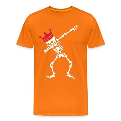 Koningsdag oranje shirt met DAB skelet - Mannen Premium T-shirt