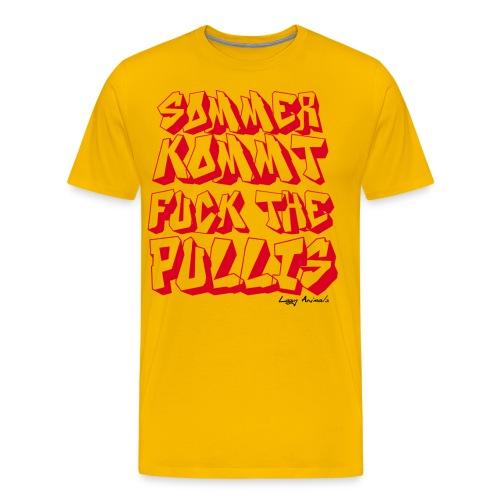 Fuck the Pullis - Männer Premium T-Shirt
