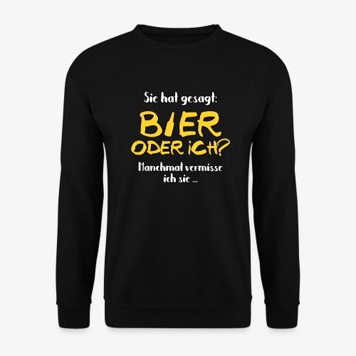 Männer Pullover Bier oder ich? - Männer Pullover