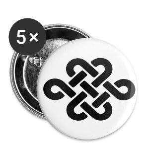 5 Buttons (25mm) - Buttons klein 25 mm