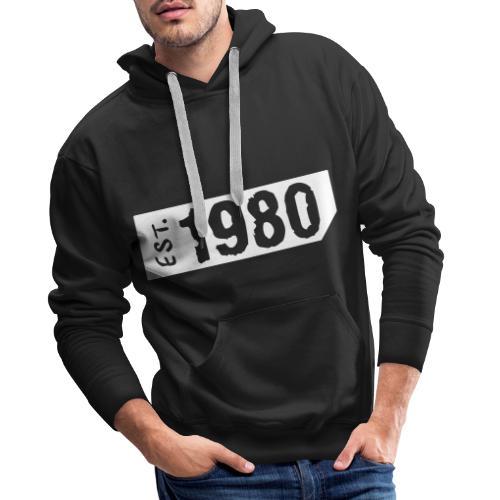 1980 - Mannen Premium hoodie