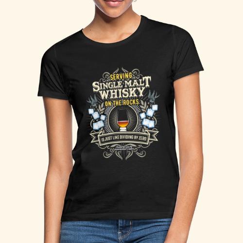 Whisky T Shirt Single Malt on the Rocks - Frauen T-Shirt