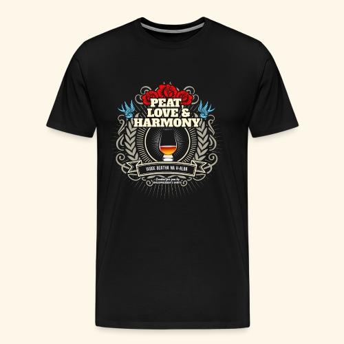Whisky T Shirt Peat Love & Harmony - Männer Premium T-Shirt