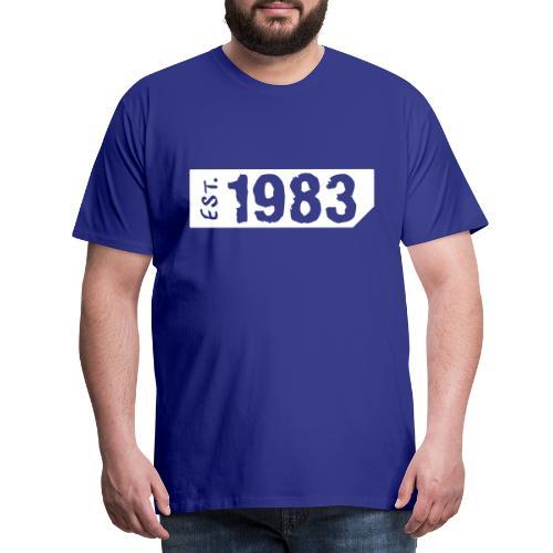 1983 Shirt - Mannen Premium T-shirt