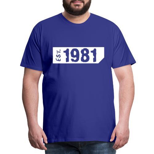 1981 Shirt - Mannen Premium T-shirt