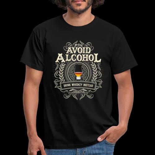 Whiskey T Shirt Avoid Alcohol - Men's T-Shirt
