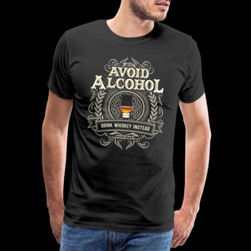 Whiskey T Shirt Avoid Alcohol - Men's Premium T-Shirt