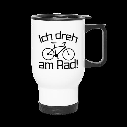 Fahrrad fahren Spruch Thermo Becher - Thermobecher