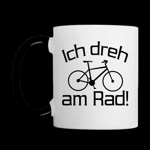 Fahrrad fahren Spruch Tasse - Tasse zweifarbig