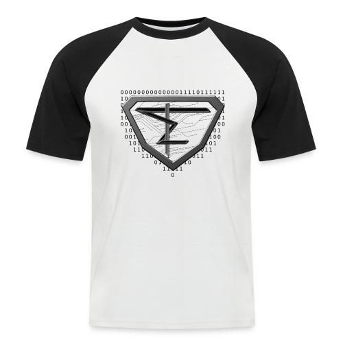 Digital Superknebi - Männer Baseball-T-Shirt