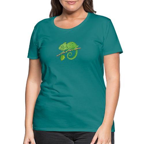 charmantes Chamäleon - Frauen Premium T-Shirt  - Frauen Premium T-Shirt