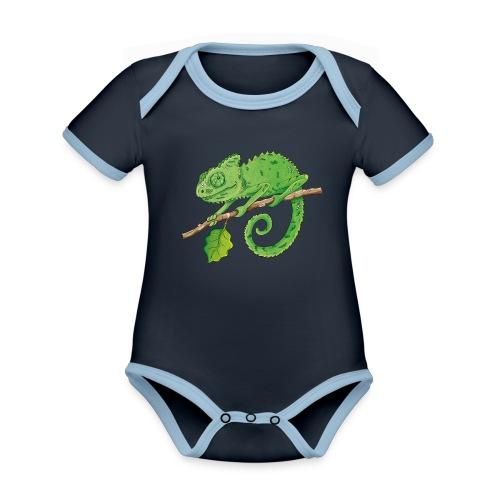 charmantes Chamäleon - Baby Bio-Kurzarm-Kontrastbody - Baby Bio-Kurzarm-Kontrastbody