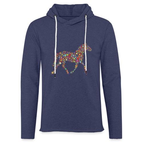 Leichtes Kapuzensweatshirt Unisex - Blumen Pferd - Leichtes Kapuzensweatshirt Unisex