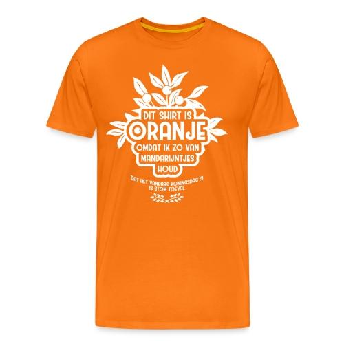 Dit shirt is oranje mannen - Mannen Premium T-shirt