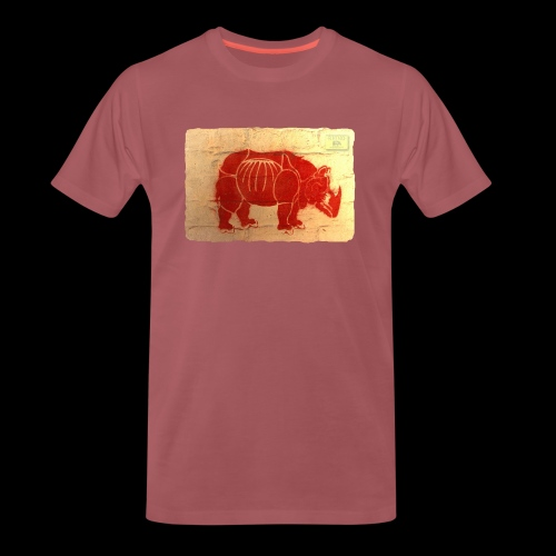 Rhino graffiti* - Men's Premium T-Shirt