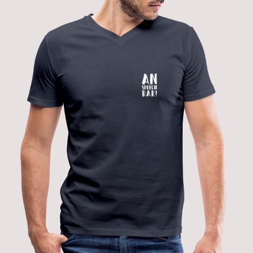 Ansprechbar - Männlich - Bio TShirt - Männer Bio-T-Shirt mit V-Ausschnitt von Stanley & Stella