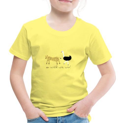 So wild wie wir (Leopard & Strauß) - Kinder Premium T-Shirt