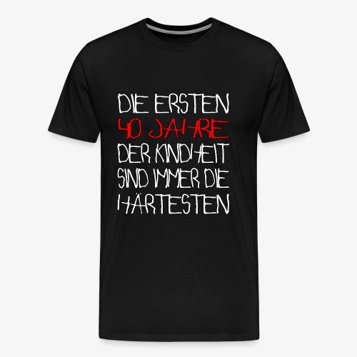 Männer Premium T-Shirt 40 Jahre 40.Geburtstag - Männer Premium T-Shirt