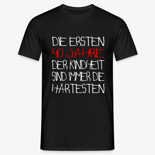 Männer T-Shirt 40 Jahre 40.Geburtstag - Männer T-Shirt