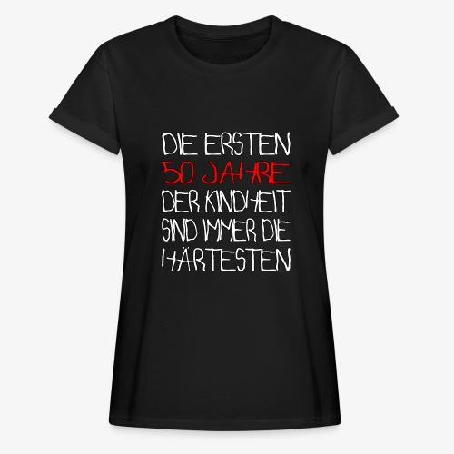 Frauen Oversize T-Shirt 50 Jahre 50.Geburtstag - Frauen Oversize T-Shirt