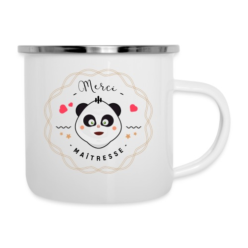 Merci maitresse-panda Mugs et récipients - Tasse émaillée