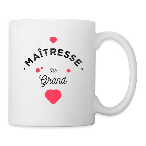 Maitresse au grand coeur Mugs et récipients - Mug blanc