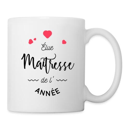 Élue maîtresse de l'année Mugs et récipients - Mug blanc