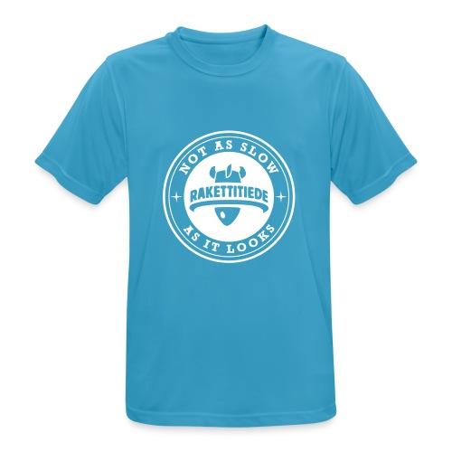 RUNM-isologo - miesten tekninen t-paita