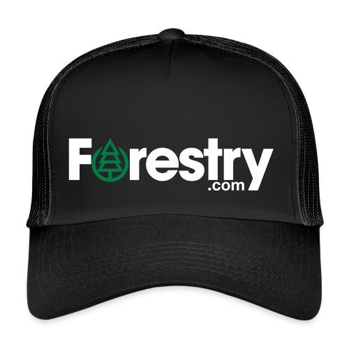 Forestry Trucker Black Cap - Trucker Cap