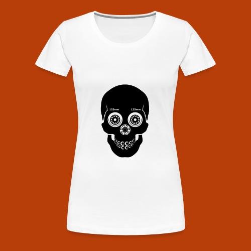 Skull Skating Black - Frauen Premium T-Shirt