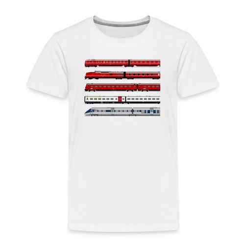 Lyntogshistorie - Børne premium T-shirt