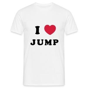 Mannen T-shirt - heren shirt lovejump