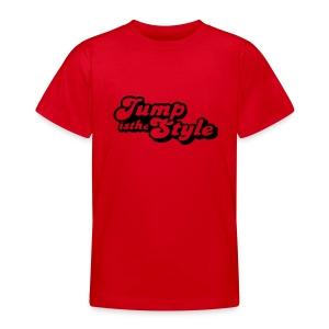 eigen tekst achter - Teenager T-shirt