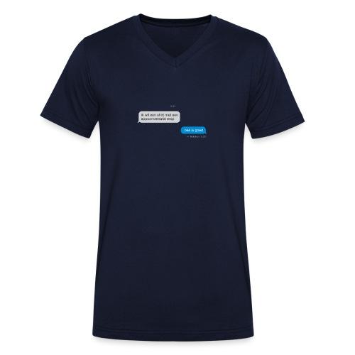 Appconversatie mannen v-hals bio - Mannen bio T-shirt met V-hals van Stanley & Stella
