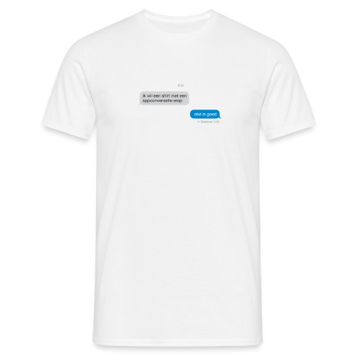 Appconversatie mannen t-shirt - Mannen T-shirt
