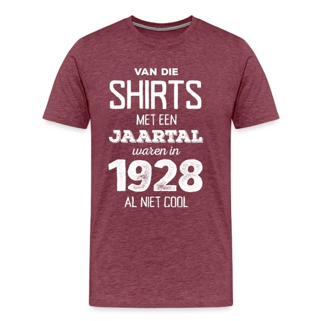Shirt met een jaartal mannen t-shirt premium