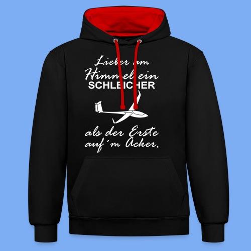 lustiger Insider Spruch für Segelflieger und Segelflugzeugführer - Segelflieger Tshirt - Contrast Colour Hoodie