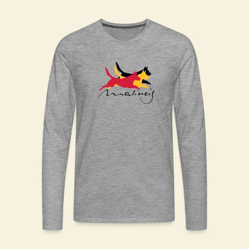 Malinois belgian colors - Männer Premium Langarmshirt