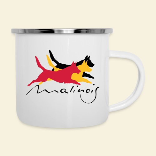 Malinois belgian colors - Emaille-Tasse
