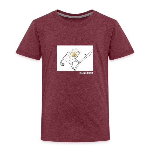 The Chameleon and the Small Leaf - Kids' Premium T-Shirt