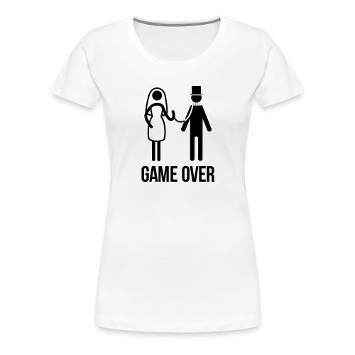 game over vrijgezellenfeest - Vrouwen Premium T-shirt